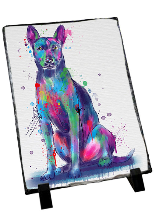 Watercolor Thai Ridgeback Dog Sitting Photo Slate SLT57482