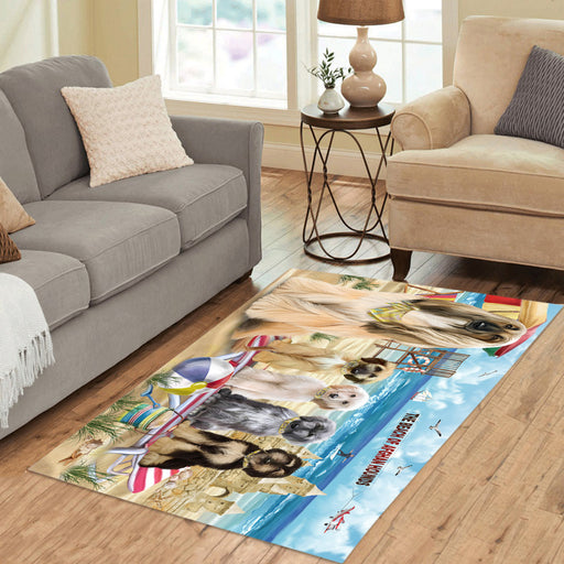 Pet Friendly Beach Afghan Hound Dogs Area Rug