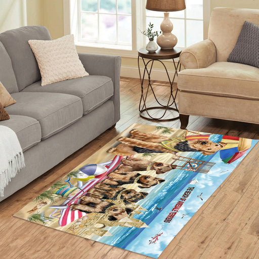 Pet Friendly Beach Airedale Terrier Dogs Area Rug