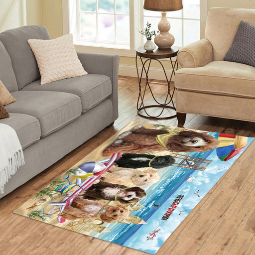 Pet Friendly Beach Cockapoo Dogs Area Rug