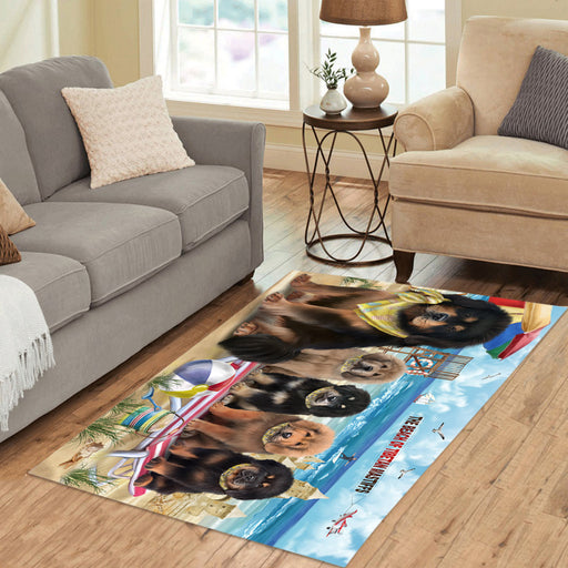 Pet Friendly Beach Tibetan Mastiff Dogs Area Rug