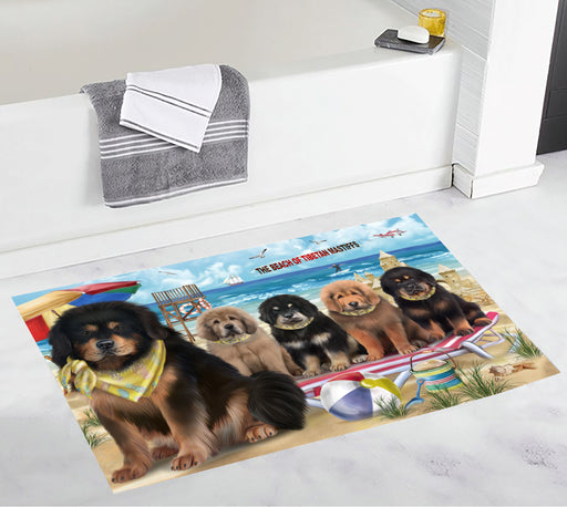 Pet Friendly Beach Tibetan Mastiff Dogs Bath Mat