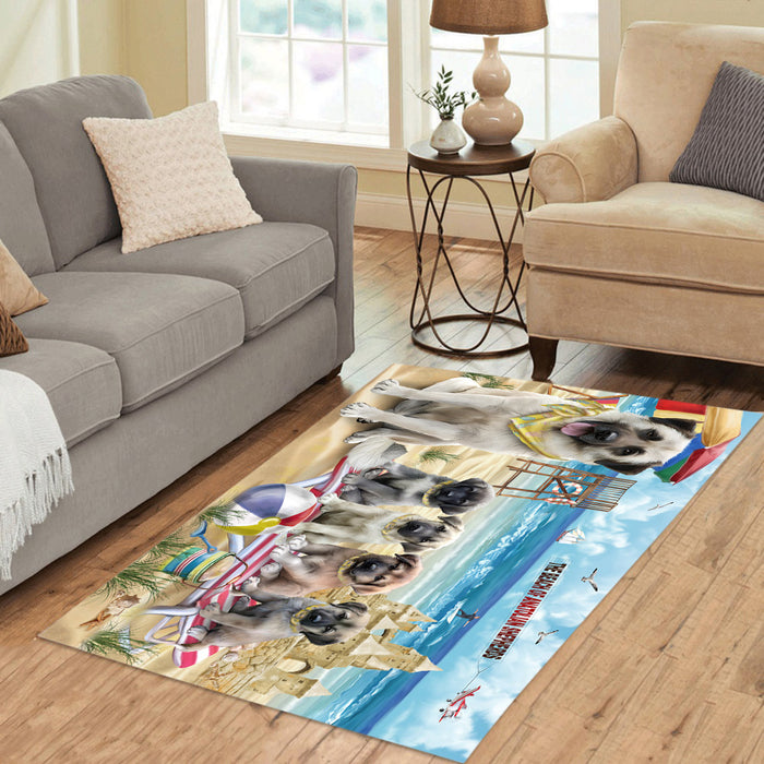 Pet Friendly Beach Anatolian Shepherd Dogs Area Rug