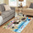 Pet Friendly Beach Pekingese Dogs Area Rug