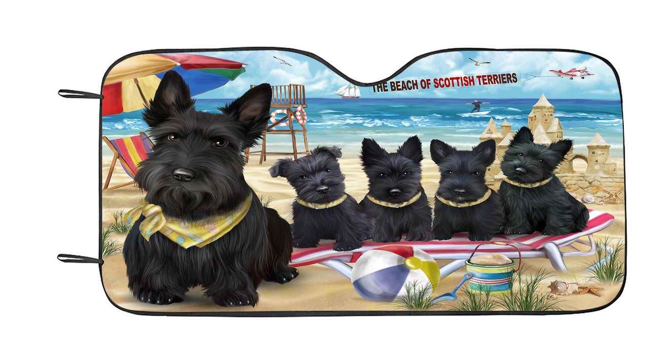 Pet Friendly Beach Scottish Terrier Dogs Car Sun Shade