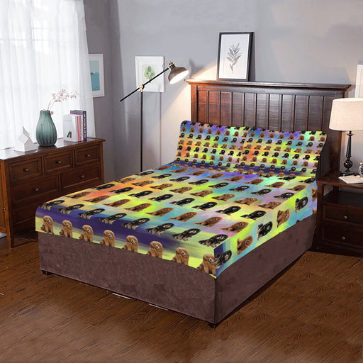 Paradise Wave Tibetan Mastiff Dogs 3-Piece Bedding Set