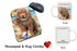 Pet Friendly Beach Tibetan Mastiff Dog Mug & Mousepad Combo Gift Set MPC49593