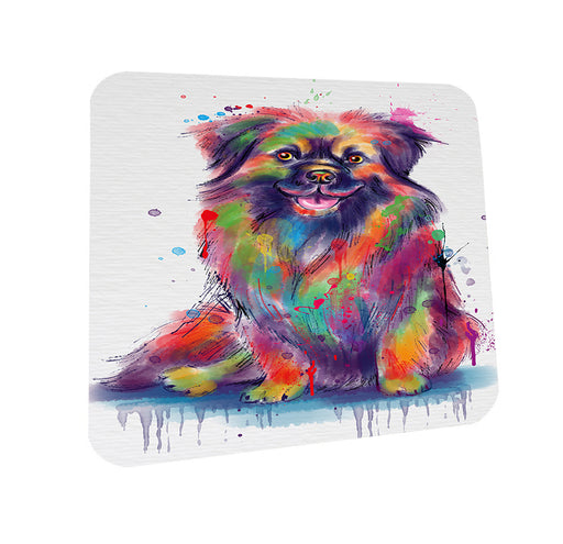 Watercolor Tibetan Spaniel Dog Coasters Set of 4 CST57530