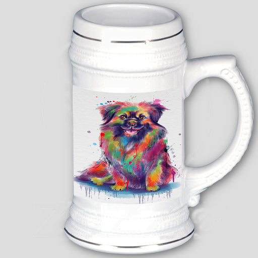 Watercolor Tibetan Spaniel Dog Beer Stein BST57459