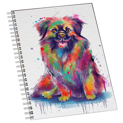 Watercolor Tibetan Spaniel Dog Notebook NTB55754