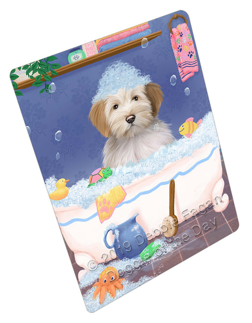Rub A Dub Dog In A Tub Tibetan Terrier Dog Refrigerator / Dishwasher Magnet RMAG109770