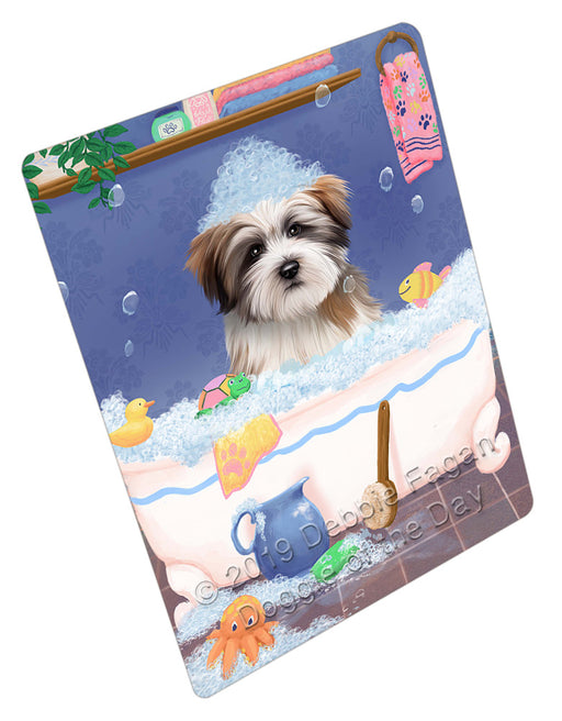 Rub A Dub Dog In A Tub Tibetan Terrier Dog Refrigerator / Dishwasher Magnet RMAG109758