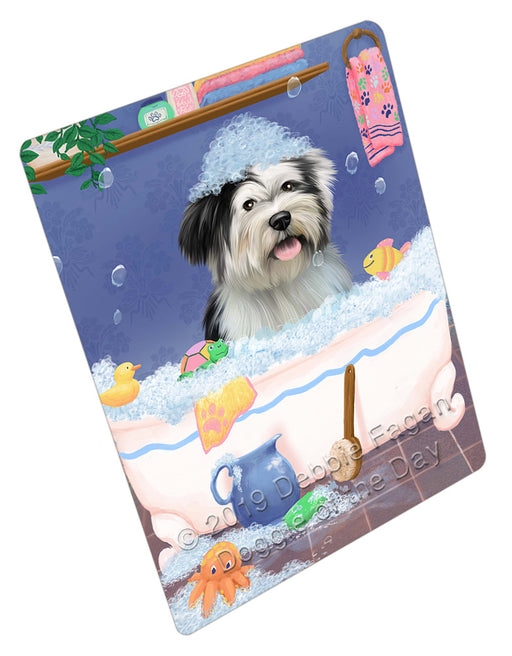 Rub A Dub Dog In A Tub Tibetan Terrier Dog Refrigerator / Dishwasher Magnet RMAG109764