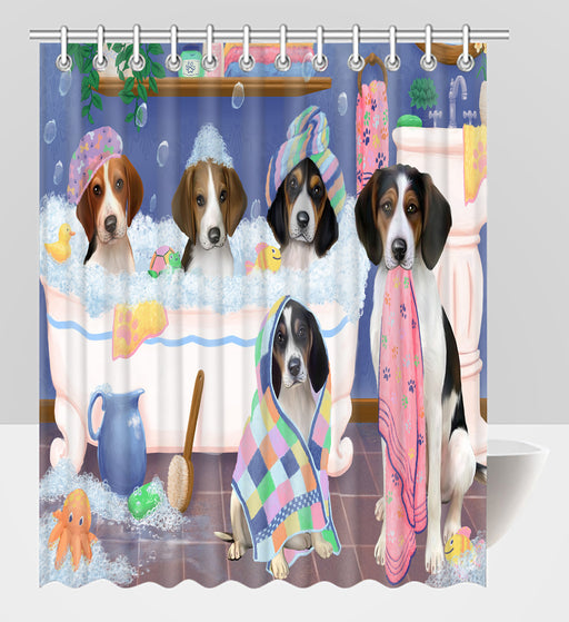 Rub A Dub Dogs In A Tub Treeing Walker Coonhound Dogs Shower Curtain