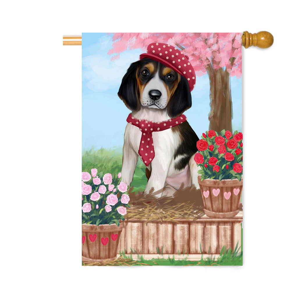 Personalized Rosie 25 Cent Kisses Treeing Walker Coonhound Dog Custom House Flag FLG64965