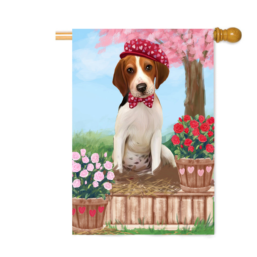 Personalized Rosie 25 Cent Kisses Treeing Walker Coonhound Dog Custom House Flag FLG64966