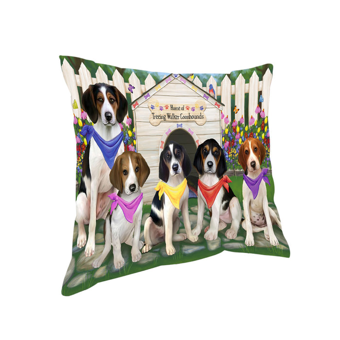 Spring Dog House Treeing Walker Coonhounds Dog Pillow PIL56396
