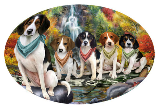 Scenic Waterfall Treeing Walker Coonhounds Dog Oval Envelope Seals OVE63868
