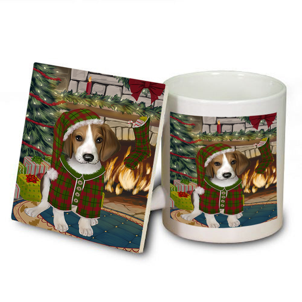 The Stocking was Hung Treeing Walker Coonhound Dog Mug and Coaster Set MUC55630