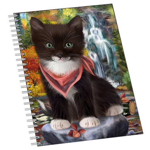 Scenic Waterfall Tuxedo Cat Notebook NTB51101