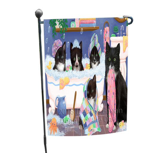 Rub A Dub Dogs In A Tub Tuxedo Cats Garden Flag GFLG57459