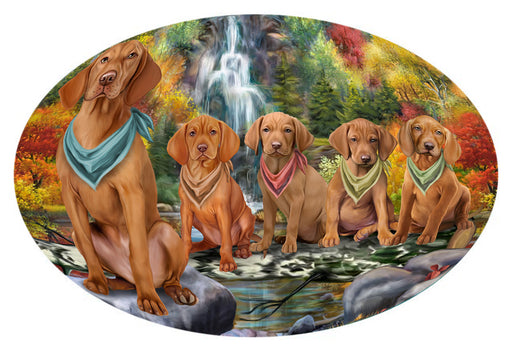 Scenic Waterfall Vizslas Dog Oval Envelope Seals OVE63916