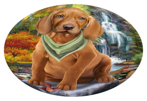 Scenic Waterfall Vizsla Dog Oval Envelope Seals OVE63920