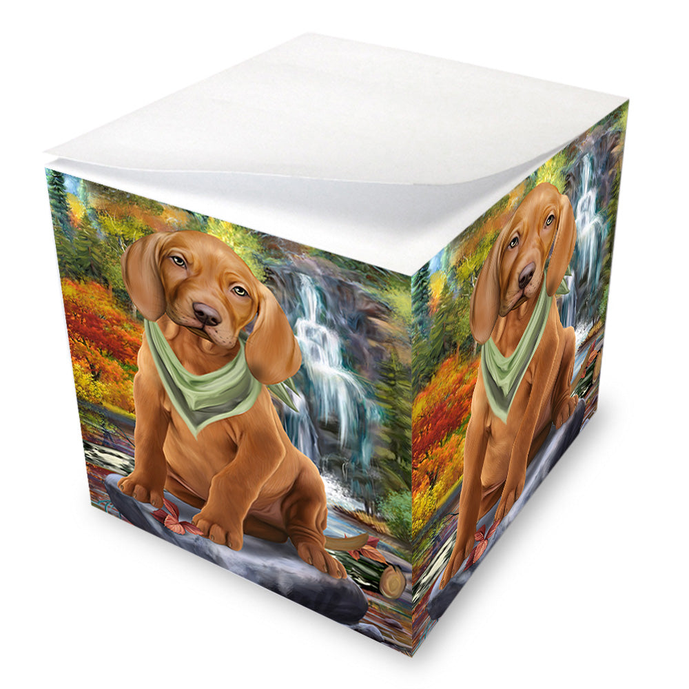 Scenic Waterfall Vizsla Dog Note Cube NOC51981