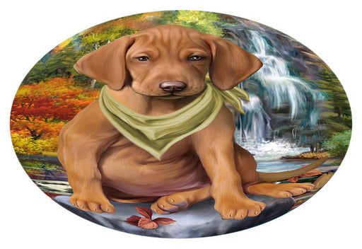 Scenic Waterfall Vizsla Dog Oval Envelope Seals OVE63924