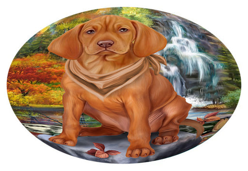 Scenic Waterfall Vizsla Dog Oval Envelope Seals OVE63932