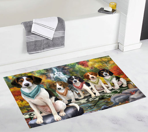 Scenic Waterfall Treeing Walker Coonhound Dogs Bath Mat