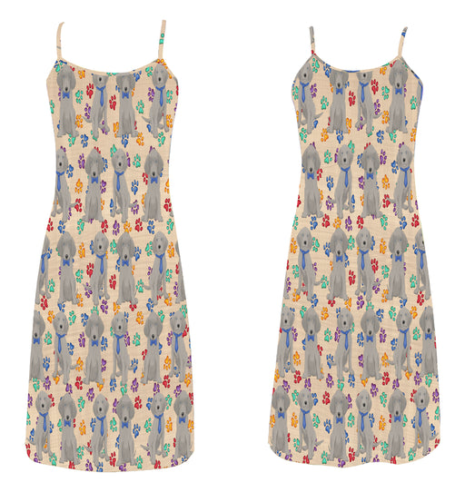 Rainbow Paw Print Weimaraner Dogs Blue Alcestis Slip Dress