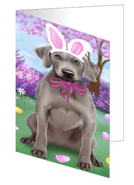 Weimaraner Dog Easter Holiday Note Card NCD51902