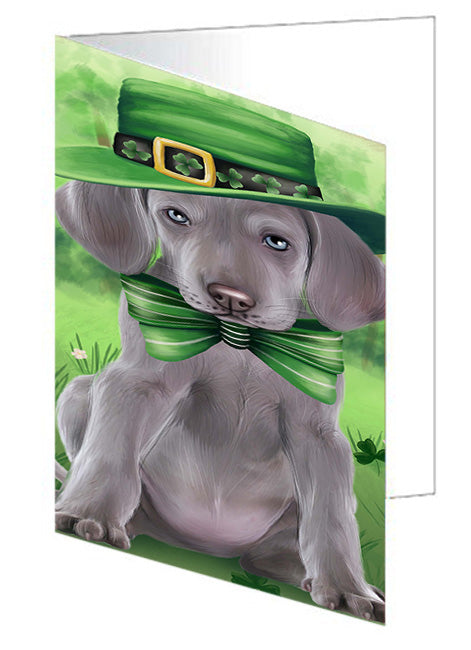 St. Patricks Day Irish Portrait Weimaraner Dog Note Card NCD52310