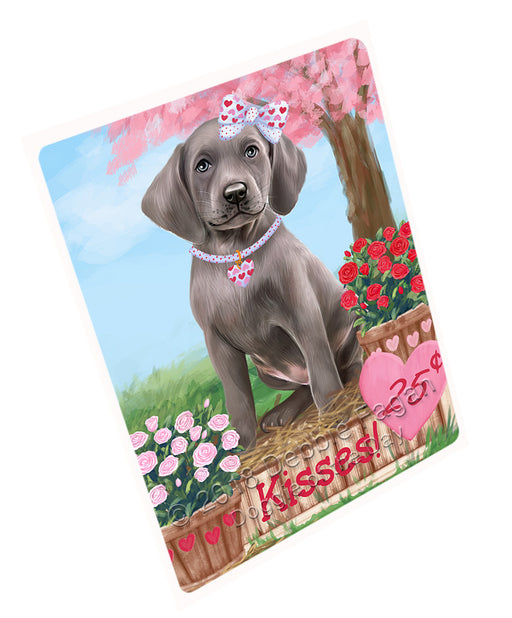 "Rosie 25 Cent Kisses Weimaraner Dog Magnet MAG73915 (Mini 3.5"" x 2"")"
