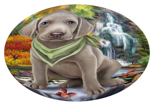 Scenic Waterfall Weimaraner Dog Oval Envelope Seals OVE63944