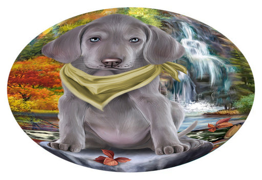 Scenic Waterfall Weimaraner Dog Oval Envelope Seals OVE63948