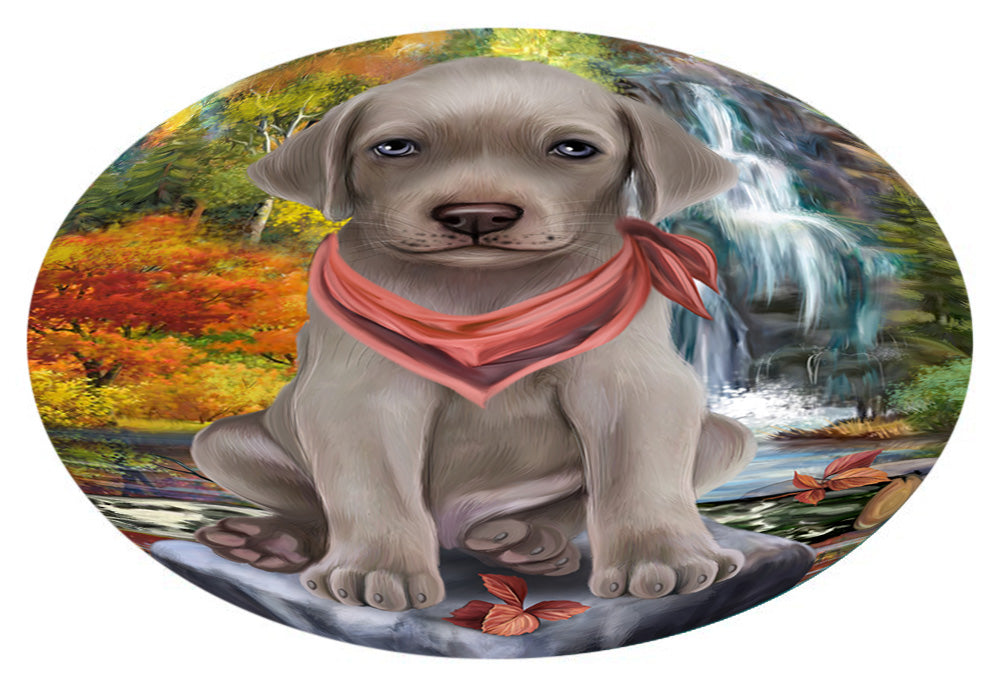 Scenic Waterfall Weimaraner Dog Oval Envelope Seals OVE63952