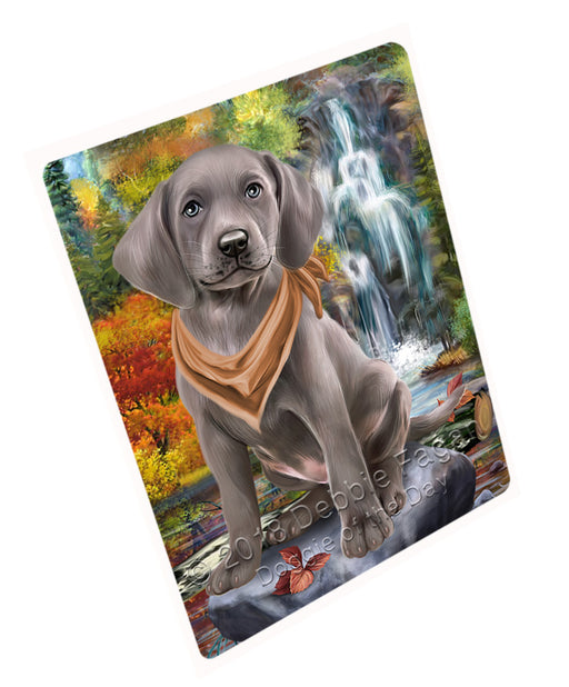"Scenic Waterfall Weimaraner Dog Magnet Mini (3.5"" x 2"") MAG60219"