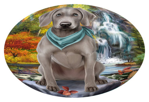 Scenic Waterfall Weimaraner Dog Oval Envelope Seals OVE63960
