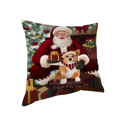 Santa's Christmas Surprise Welsh Corgi Dog Pillow PIL87396