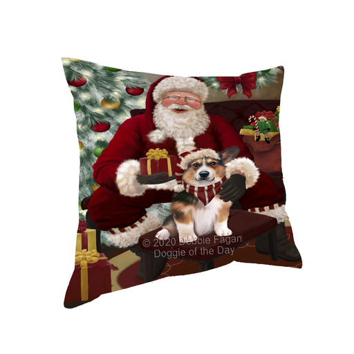 Santa's Christmas Surprise Welsh Corgi Dog Pillow PIL87400