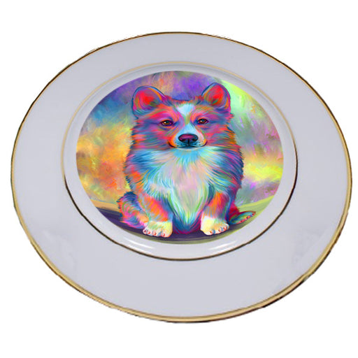 Paradise Wave Welsh Corgi Dog Porcelain Plate PLT55093