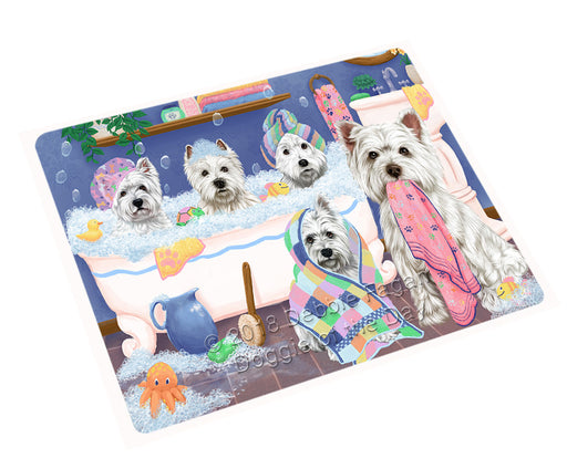 Rub A Dub Dogs In A Tub West Highland Terriers Dog Cutting Board C75639