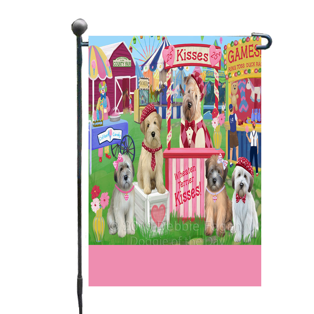 Personalized Carnival Kissing Booth Wheaten Terrier Dogs Custom Garden