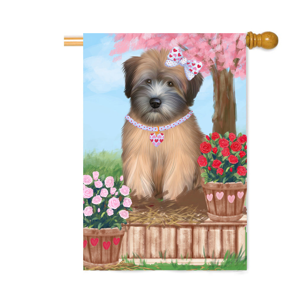 Personalized Rosie 25 Cent Kisses Wheaten Terrier Dog Custom House Flag FLG64972