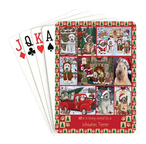 Love is Being Owned Christmas Wheaten Terrier Dogs Playing Card Decks