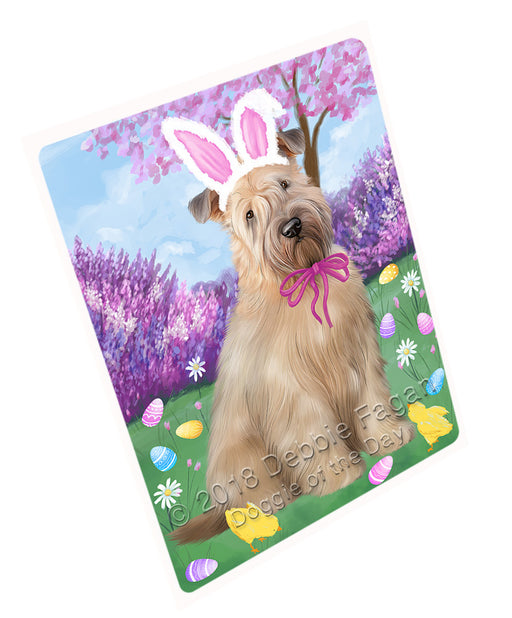 Easter Holiday Wheaten Terrier Dog Large Refrigerator / Dishwasher Magnet RMAG104034