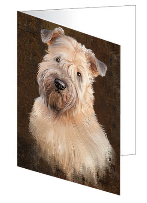 Rustic Wheaten Terrier Dog Greeting Card GCD67529