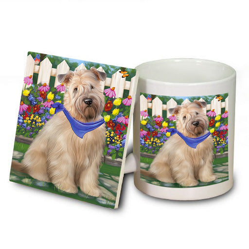 Spring Floral Wheaten Terrier Dog Mug and Coaster Set MUC52222